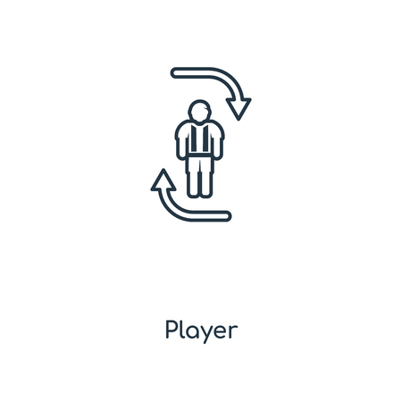 Player concept line icon. Linear Player concept outline symbol design. This simple element illustration can be used for web and mobile UI/UX.