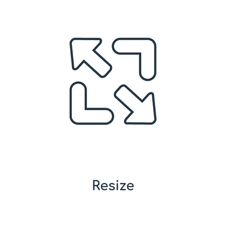 Resize concept line icon. Linear Resize concept outline symbol design. This simple element illustration can be used for web and mobile UI/UX.
