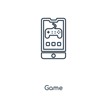 Game concept line icon. Linear Game concept outline symbol design. This simple element illustration can be used for web and mobile UI/UX.