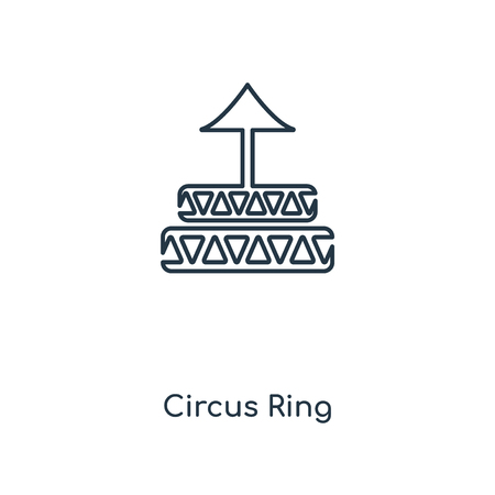 Circus Ring concept line icon. Linear Circus Ring concept outline symbol design. This simple element illustration can be used for web and mobile UIUX. Ilustração