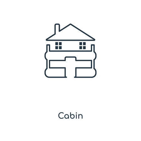 Cabin concept line icon. Linear Cabin concept outline symbol design. This simple element illustration can be used for web and mobile UI/UX.