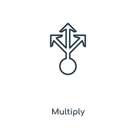 Multiply concept line icon. Linear Multiply concept outline symbol design. This simple element illustration can be used for web and mobile UIUX.