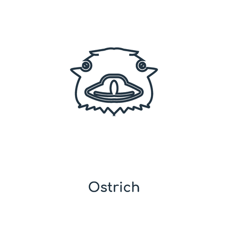 Ostrich concept line icon. Linear Ostrich concept outline symbol design. This simple element illustration can be used for web and mobile UIUX.