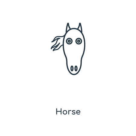 Horse concept line icon. Linear Horse concept outline symbol design. This simple element illustration can be used for web and mobile UI/UX.
