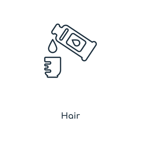 Hair concept line icon. Linear Hair concept outline symbol design. This simple element illustration can be used for web and mobile UI/UX.