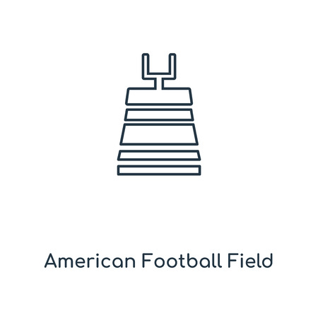 American Football Field concept line icon. Linear American Football Field concept outline symbol design. This simple element illustration can be used for web and mobile UI/UX. Ilustração