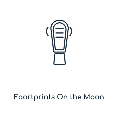 Foortprints On the Moon concept line icon. Linear Foortprints On the Moon concept outline symbol design. This simple element illustration can be used for web and mobile UI/UX.