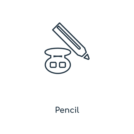 Pencil concept line icon. Linear Pencil concept outline symbol design. This simple element illustration can be used for web and mobile UI/UX.