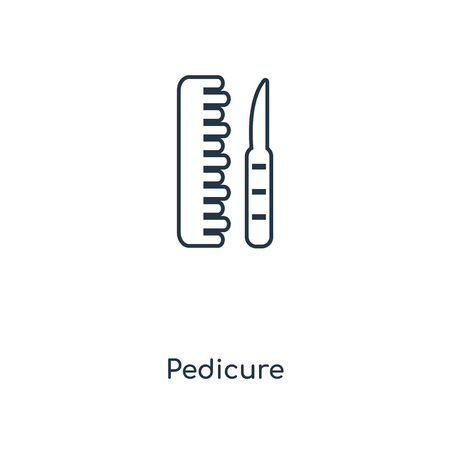 Pedicure concept line icon. Linear Pedicure concept outline symbol design. This simple element illustration can be used for web and mobile UI/UX.
