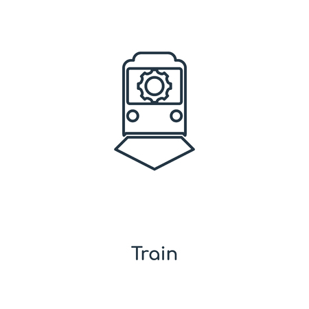 Train concept line icon. Linear Train concept outline symbol design. This simple element illustration can be used for web and mobile UI/UX.