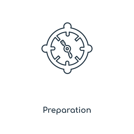 Preparation concept line icon. Linear Preparation concept outline symbol design. This simple element illustration can be used for web and mobile UI/UX. 写真素材 - 113546687