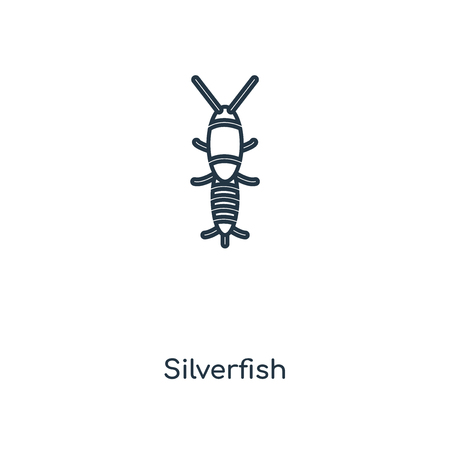 Silverfish concept line icon. Linear Silverfish concept outline symbol design. This simple element illustration can be used for web and mobile UIUX.