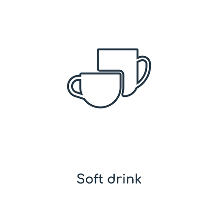 Soft drink concept line icon. Linear Soft drink concept outline symbol design. This simple element illustration can be used for web and mobile UI/UX.