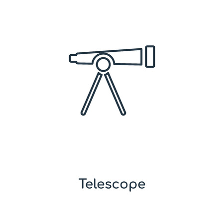 Telescope concept line icon. Linear Telescope concept outline symbol design. This simple element illustration can be used for web and mobile UIUX. Çizim