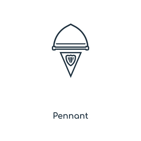Pennant concept line icon. Linear Pennant concept outline symbol design. This simple element illustration can be used for web and mobile UIUX.