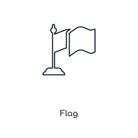 Flag concept line icon. Linear Flag concept outline symbol design. This simple element illustration can be used for web and mobile UI/UX. Ilustracja