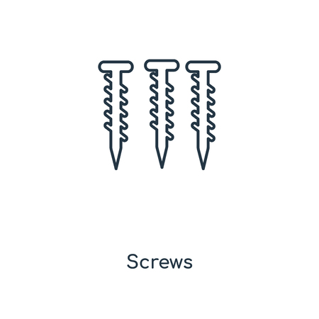 Screws concept line icon. Linear Screws concept outline symbol design. This simple element illustration can be used for web and mobile UI/UX.