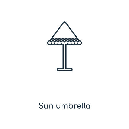 Sun umbrella concept line icon. Linear Sun umbrella concept outline symbol design. This simple element illustration can be used for web and mobile UI/UX.