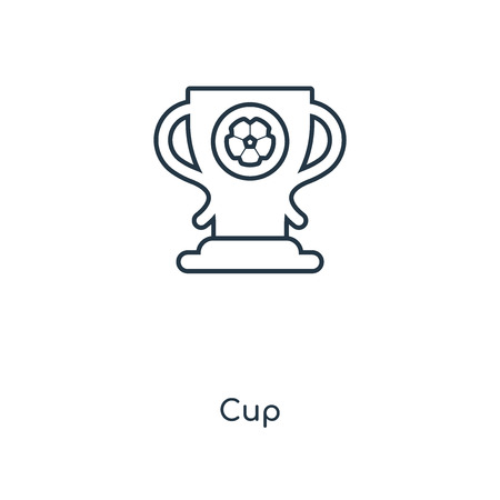 Cup concept line icon. Linear Cup concept outline symbol design. This simple element illustration can be used for web and mobile UI/UX.
