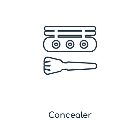 Concealer concept line icon. Linear Concealer concept outline symbol design. This simple element illustration can be used for web and mobile UI/UX.