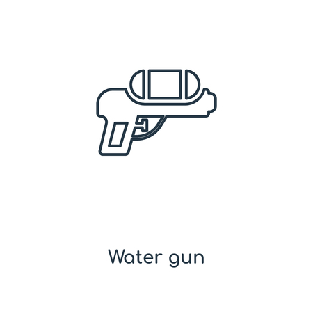 Water gun concept line icon. Linear Water gun concept outline symbol design. This simple element illustration can be used for web and mobile UI/UX. 일러스트