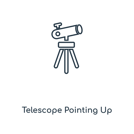 Telescope Pointing Up concept line icon. Linear Telescope Pointing Up concept outline symbol design. This simple element illustration can be used for web and mobile UI/UX.