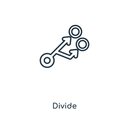 Divide concept line icon. Linear Divide concept outline symbol design. This simple element illustration can be used for web and mobile UI/UX.