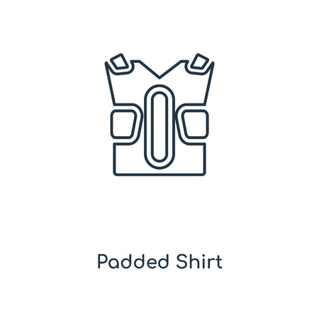 Padded Shirt concept line icon. Linear Padded Shirt concept outline symbol design. This simple element illustration can be used for web and mobile UIUX. Stock Illustratie