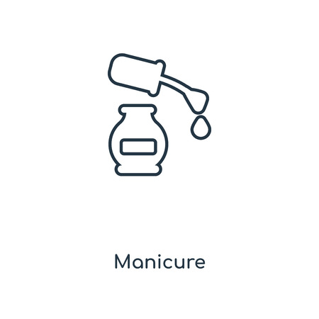 Manicure concept line icon. Linear Manicure concept outline symbol design. This simple element illustration can be used for web and mobile UI/UX.