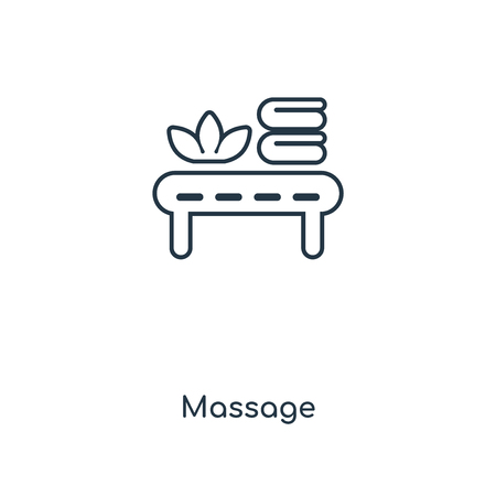 Massage concept line icon. Linear Massage concept outline symbol design. This simple element illustration can be used for web and mobile UI/UX.