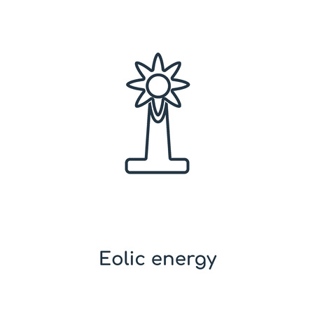 Eolic energy concept line icon. Linear Eolic energy concept outline symbol design. This simple element illustration can be used for web and mobile UI/UX.