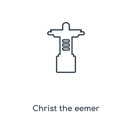 Christ the redeemer concept line icon. Linear Christ the redeemer concept outline symbol design. This simple element illustration can be used for web and mobile UI/UX.