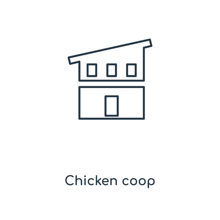 Chicken coop concept line icon. Linear Chicken coop concept outline symbol design. This simple element illustration can be used for web and mobile UIUX.
