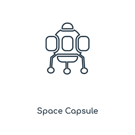 Space Capsule concept line icon. Linear Space Capsule concept outline symbol design. This simple element illustration can be used for web and mobile UI/UX.