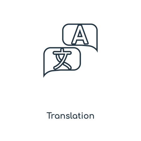 Translation concept line icon. Linear Translation concept outline symbol design. This simple element illustration can be used for web and mobile UIUX.
