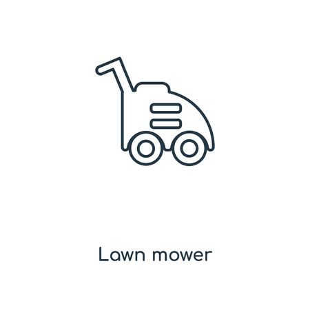Lawn mower concept line icon. Linear Lawn mower concept outline symbol design. This simple element illustration can be used for web and mobile UI/UX.