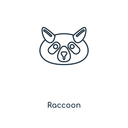 Raccoon concept line icon. Linear Raccoon concept outline symbol design. This simple element illustration can be used for web and mobile UI/UX.