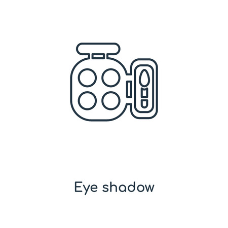 Eye shadow concept line icon. Linear Eye shadow concept outline symbol design. This simple element illustration can be used for web and mobile UI/UX. 向量圖像