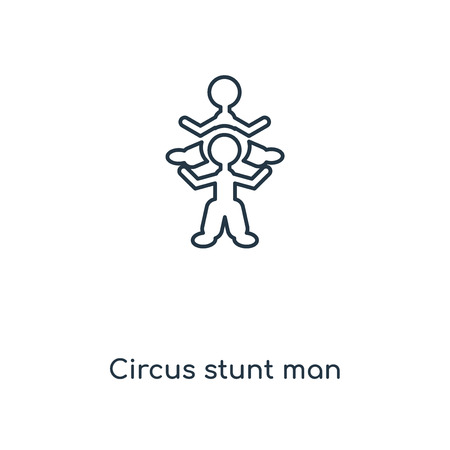 Circus stunt man concept line icon. Linear Circus stunt man concept outline symbol design. This simple element illustration can be used for web and mobile UI/UX. Vektorové ilustrace