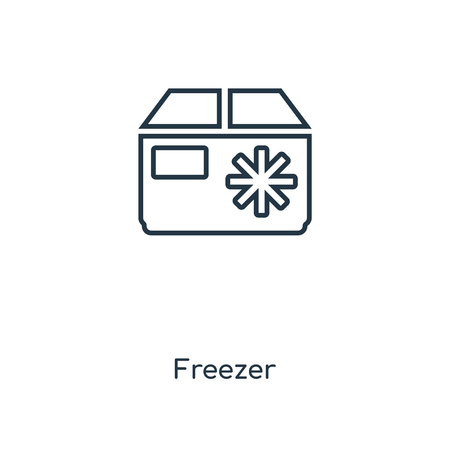 Freezer concept line icon. Linear Freezer concept outline symbol design. This simple element illustration can be used for web and mobile UI/UX.