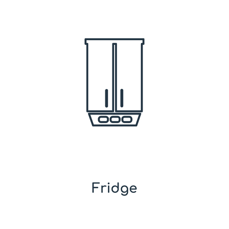 Fridge concept line icon. Linear Fridge concept outline symbol design. This simple element illustration can be used for web and mobile UI/UX.