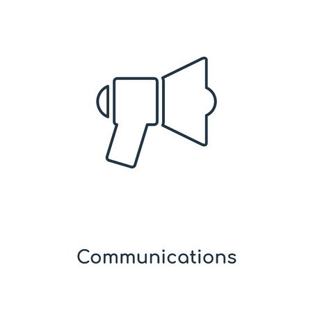 Communications concept line icon. Linear Communications concept outline symbol design. This simple element illustration can be used for web and mobile UI/UX.