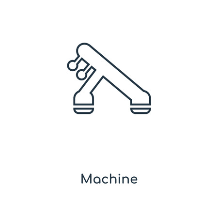 Machine concept line icon. Linear Machine concept outline symbol design. This simple element illustration can be used for web and mobile UI/UX.