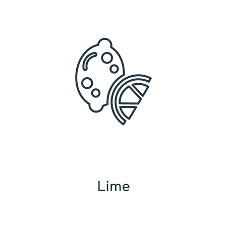 Lime concept line icon. Linear Lime concept outline symbol design. This simple element illustration can be used for web and mobile UIUX.
