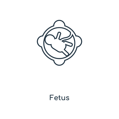 Fetus concept line icon. Linear Fetus concept outline symbol design. This simple element illustration can be used for web and mobile UIUX. Illustration
