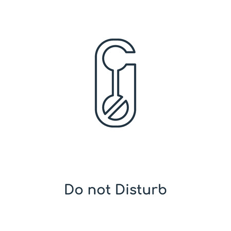 Do not Disturb concept line icon. Linear Do not Disturb concept outline symbol design. This simple element illustration can be used for web and mobile UI/UX.