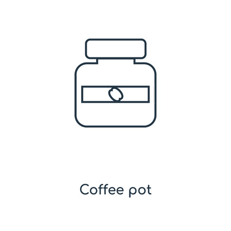 Coffee pot concept line icon. Linear Coffee pot concept outline symbol design. This simple element illustration can be used for web and mobile UI/UX. Standard-Bild - 113547243