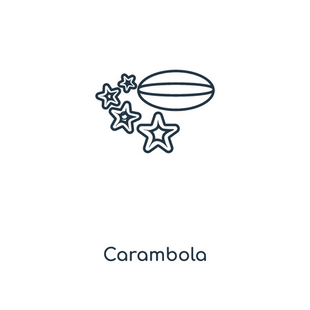 Carambola concept line icon. Linear Carambola concept outline symbol design. This simple element illustration can be used for web and mobile UI/UX.