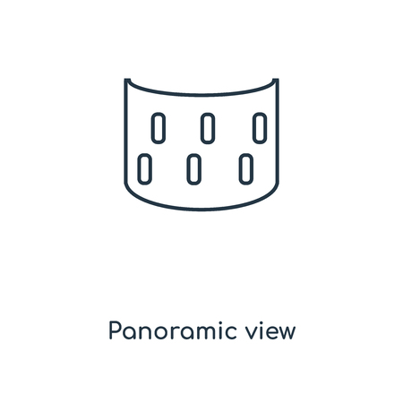 Panoramic view concept line icon. Linear Panoramic view concept outline symbol design. This simple element illustration can be used for web and mobile UI/UX.