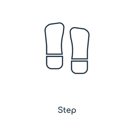 Step concept line icon. Linear Step concept outline symbol design. This simple element illustration can be used for web and mobile UI/UX.